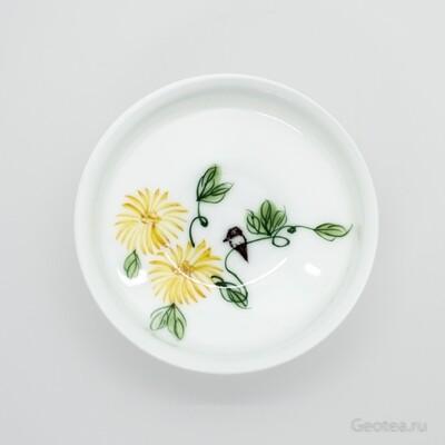 """Пиала """"Птица на желтом цветке"""""""