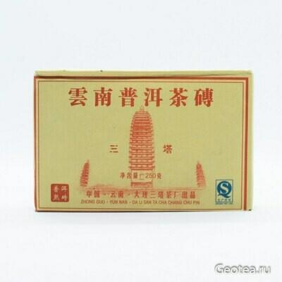 """Чай Пуэр Шу Ча Чжуань """"Саньта"""" 2015г., 250гр."""