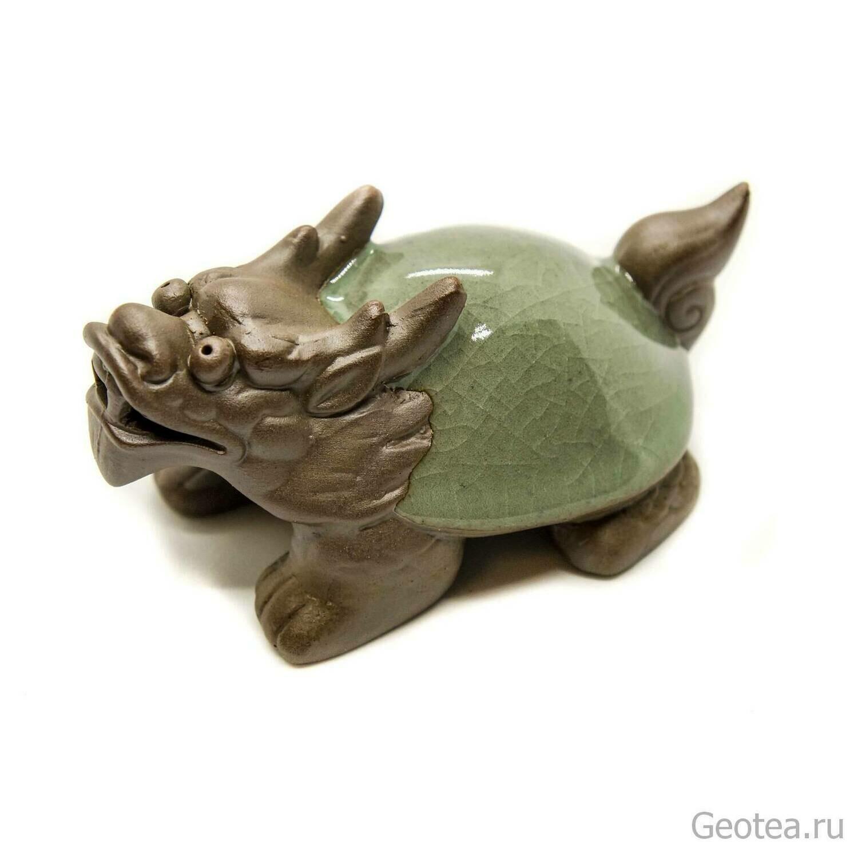 "Чайная фигурка ""Черепаха-Дракон"" 5,5 см х 10 см"