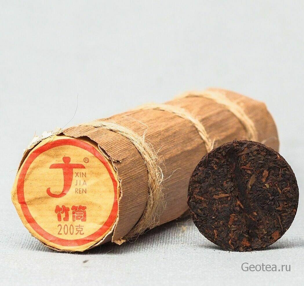 "Чай Шу Пуэр в бамбуке ""Чжутун"" Синьцзяжэнь 200гр."