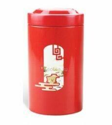 Банка для чая, красная