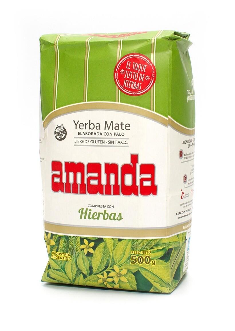 Йерба Мате Amanda Сompuesta Con Hierbas, с травами 500гр.