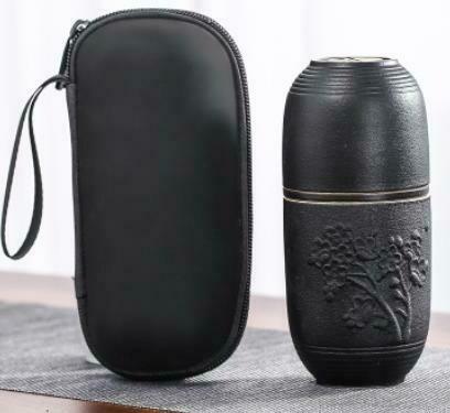 """Дорожный набор-сервиз Каменный уголь """"Цветы"""" 3 предмета, керамика"""