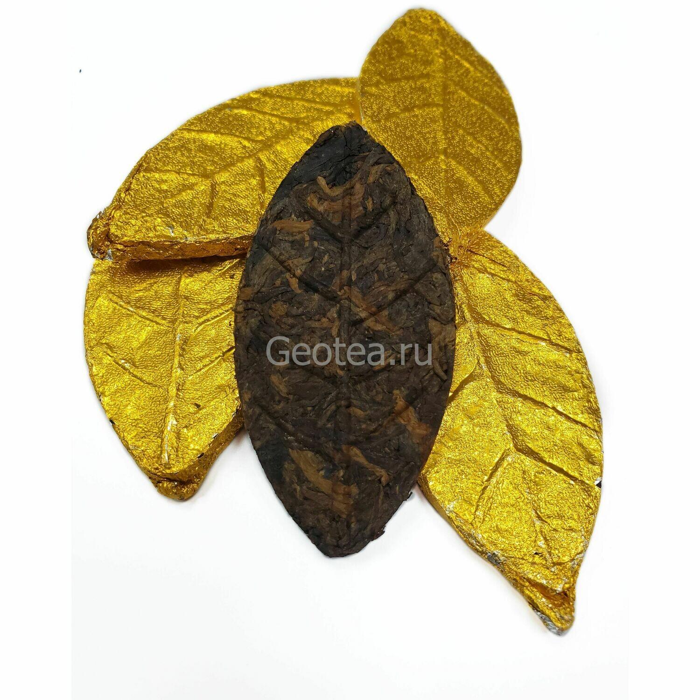"""Чай Шу Пуэр """"Stout Leaf"""" Золотой лист"""