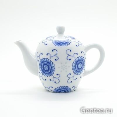 """Чайник """"Синие цветы"""" 130мл."""