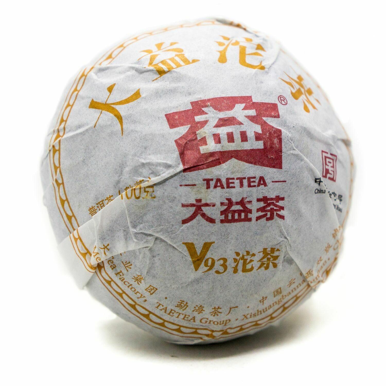 Чай Шу Пуэр Мэнхай Да И V93 Точа 100гр.