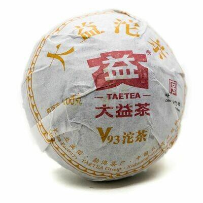 Чай Шу Пуэр Да И V93 Точа 100гр.