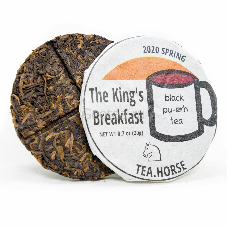 """Чай Шу Пуэр """"The King's Breakfast"""" Tea.Horse минибин, 20гр."""