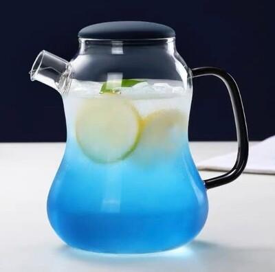 """Чайник """"Бриз"""" с силиконовой крышкой, 1400мл., стекло"""