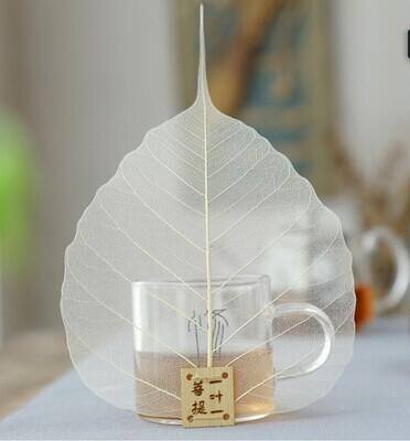 """Ситечко / Сито для чая """"Лист Бодхи"""", дерево белый"""