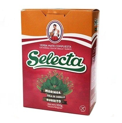 Йерба Мате Selecta Compuesta Moringa, Cola de caballo y Burrito 500гр.
