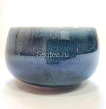 "Пиала ""Синий лёд"", керамика, 100мл."