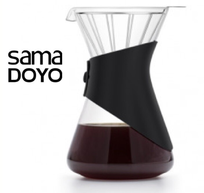 "Заварник / Кофейник ""Пуровер"" SamaDoyo 700мл., FT-003, стекло/пластик"