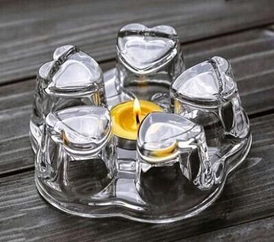 Подставка под чайник, для греющей свечи, стекло
