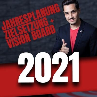 Jahresplanung 2021 | Zielsetzung + Vision Board