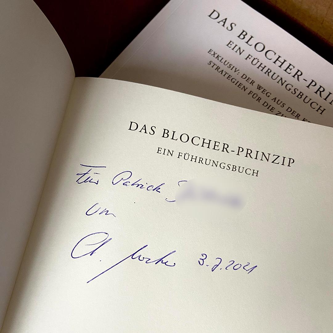 Das Blocher-Prinzip | Ein Führungsbuch (Neuauflage) + Signatur
