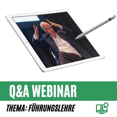 Q&A Webinar mit Dr. Blocher zum Thema Führungslehre