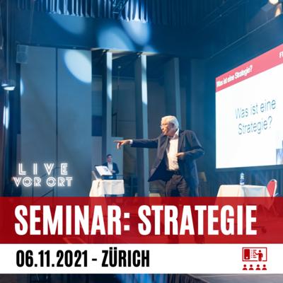 Strategielehre mit Dr. Blocher (Live vor Ort) (Early Bird Preis)