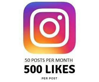 500 Instagram Likes on Each Post Per month