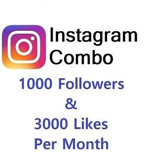Instagram Combo (1000 Followers+3000 Likes )