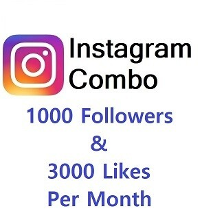 Instagram Combo (1000 Followers+3000 Likes )