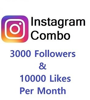 Instagram Combo (3000 Followers+10000 Likes )