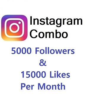 Instagram Combo (5000 Followers+15000 Likes )