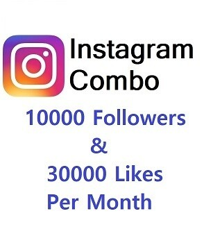 Instagram Combo (10000 Followers+30000 Likes )