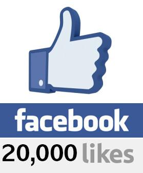 20000 Facebook Likes