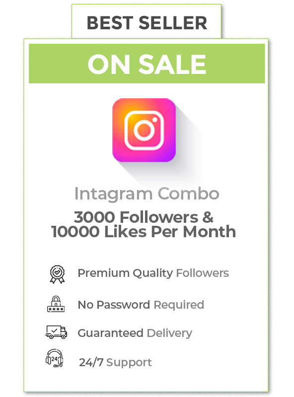 Instagram Combo (3000 Followers+10000 Likes )