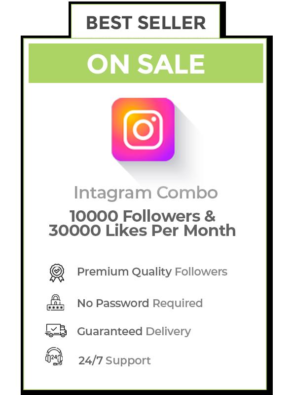 Instagram Combo (10000 Followers+30000 Likes )
