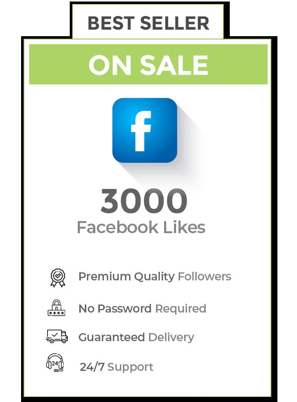 3000 Facebook Likes