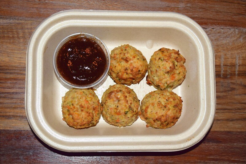 Chicken Meatballs with Dipping Sauce