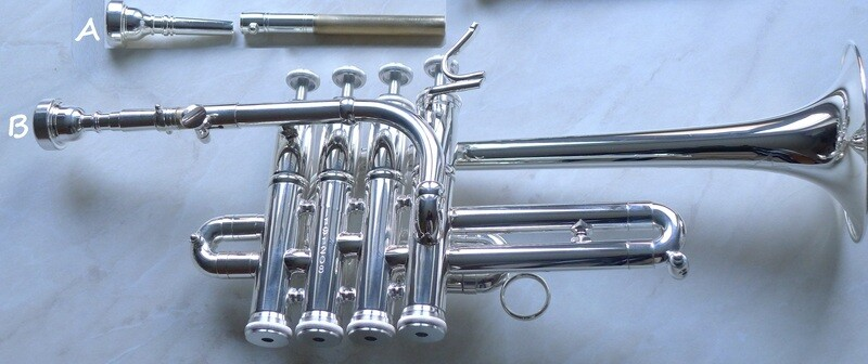 "Wolfgang-Huhn-Hoch-Bb/A-Piccolotrompete, Modell ""2020"" Weihnachts-Angebot anstatt [1.244.-€]"