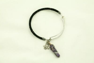 Amethyst & Metal Bracelet