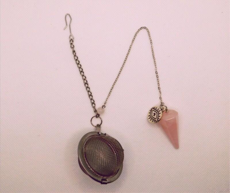 Rose Quartz Pendulum Tea Steep