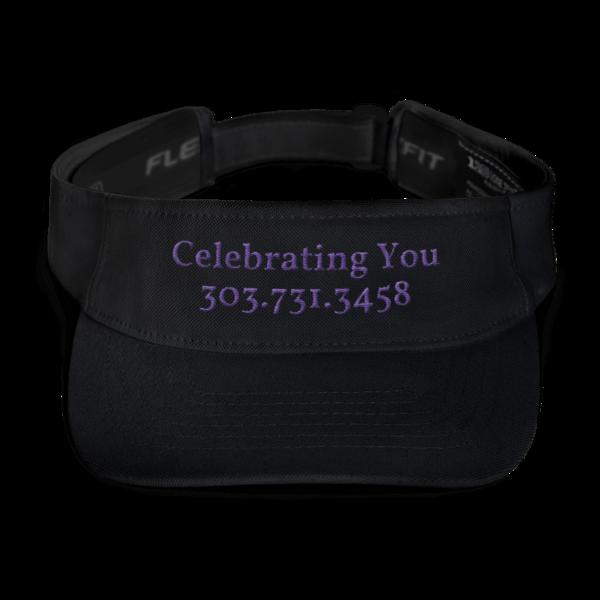 Celebrating You Designer Visor Hat - WNO Embroidered - Purple