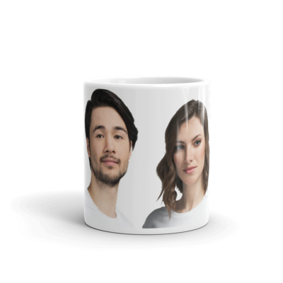 Celebrating You Designer His & Hers Mugs
