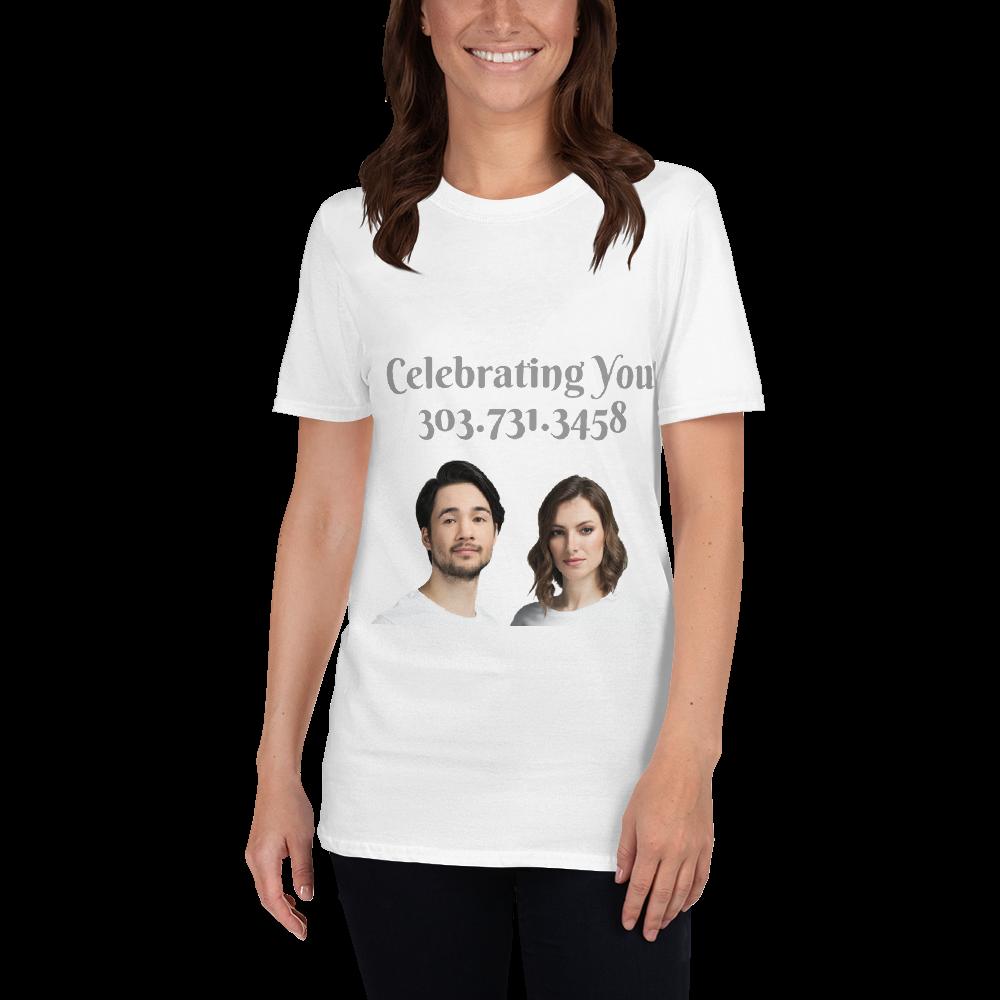 Celebrating You Designer Short-Sleeve Unisex T-Shirt