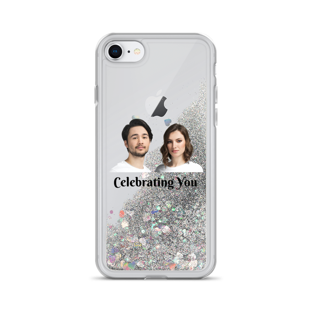 Celebrating You Designer Liquid Glitter iPhone Case