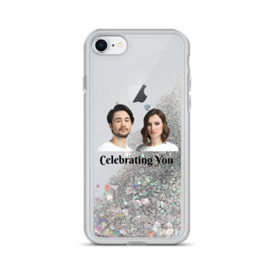 Celebrating You Designer Liquid Glitter iPhone Case