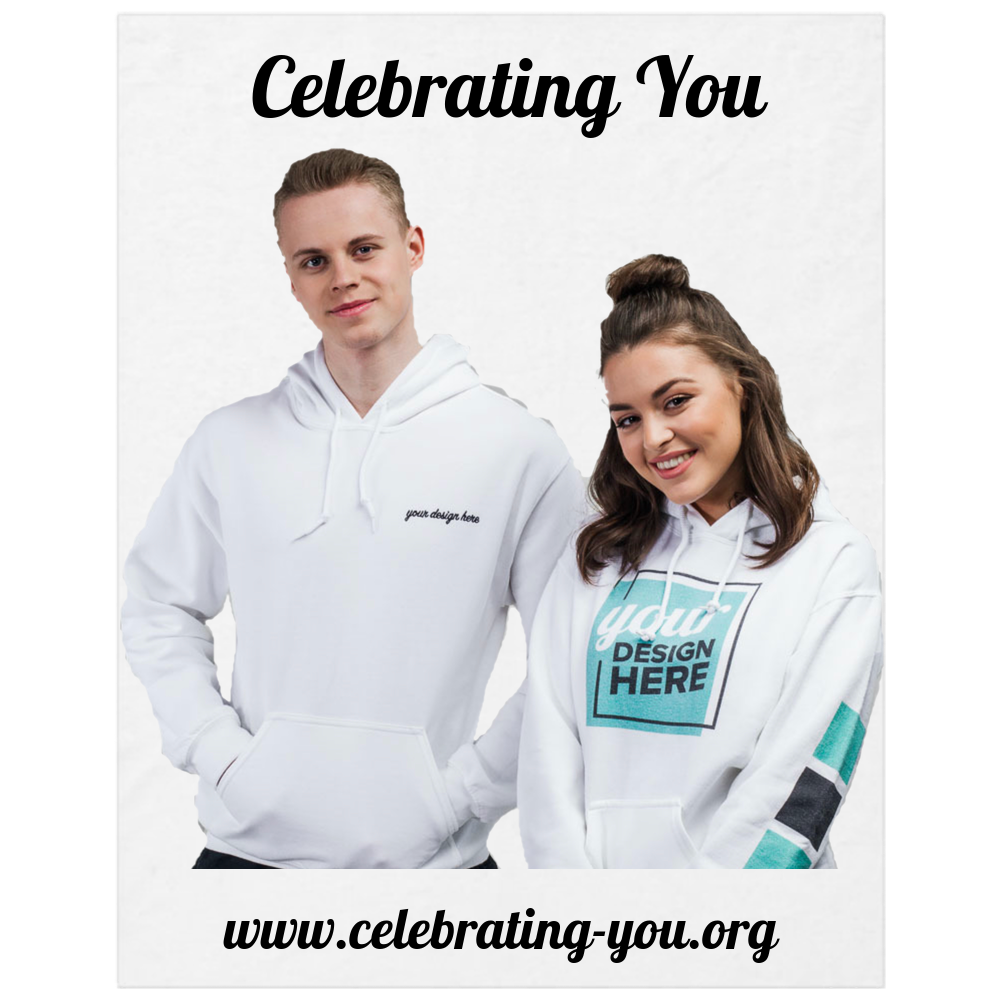 "Celebrating You Customizable 11"" X 14"" Yard Sign - White"