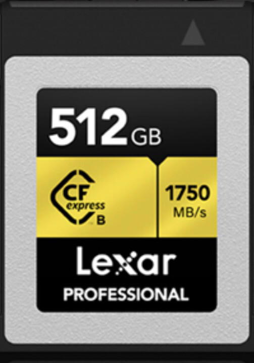 Lexar Professional CFexpress 512GB Type-B Memory Card, 1750MB/s Read, 1000MB/s Write