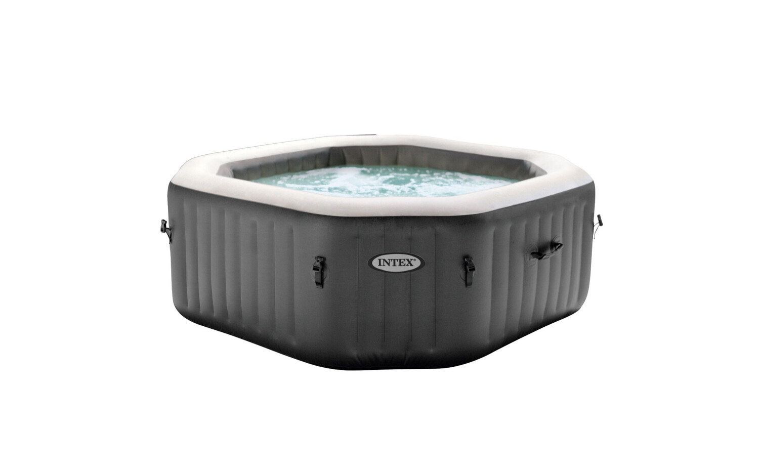 Intex PureSpa 120 Bubble Jets 4-Person Octagonal Portable Inflatable Hot Tub