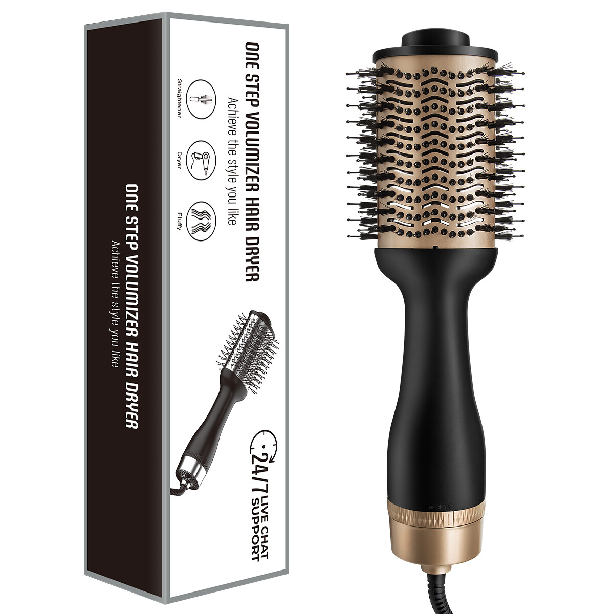 Professional Magic & Volumizer 3 in 1 Blow Dryer and Curling Comb