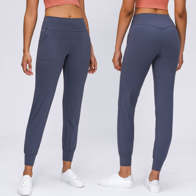 Compression Gym Pants With Pocket Fitness Yoga Wear High Waist Stretch Fitted Yoga Leggings With Custom Logo Yoga Pants