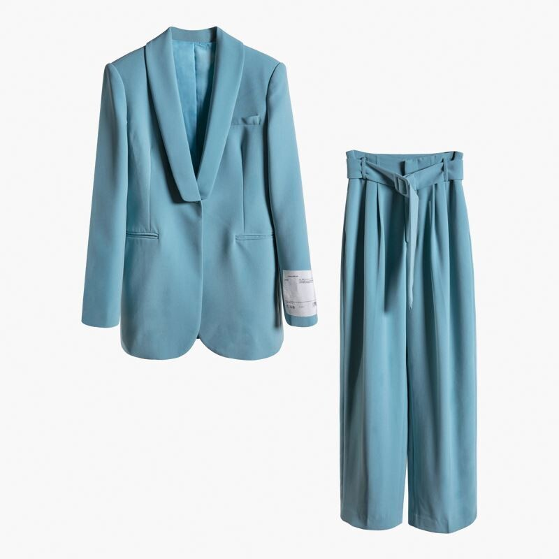 Latest Designs New Fashion Ladies Suit Casual Blazer formal causal blue blazer with long pants Business Suit For Women Tuxedo