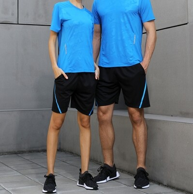 Factory direct sport shorts polyester fast dry unisex