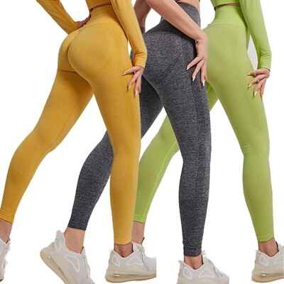 AOLA Hot selling high waisted workout mesh yoga leggings with custom logo for women