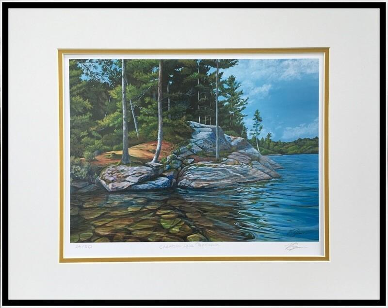 Charleston Lake Peninsula, Print Matted & Signed